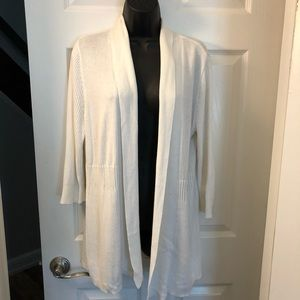 3/$25 212 collection white open cardigan sweater